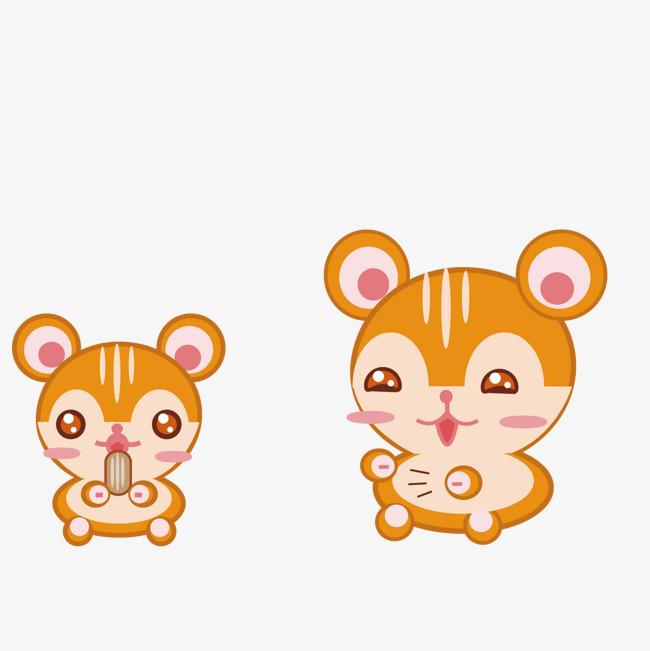 矢量卡通棕色可爱小熊