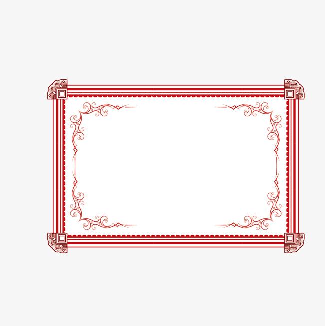 红色图框png素材-90设计图片