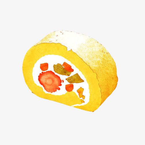 水果蛋卷手绘画素材图片