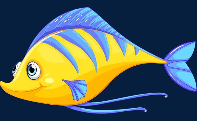 卡通海洋鱼类矢量图【高清png素材】-90设计