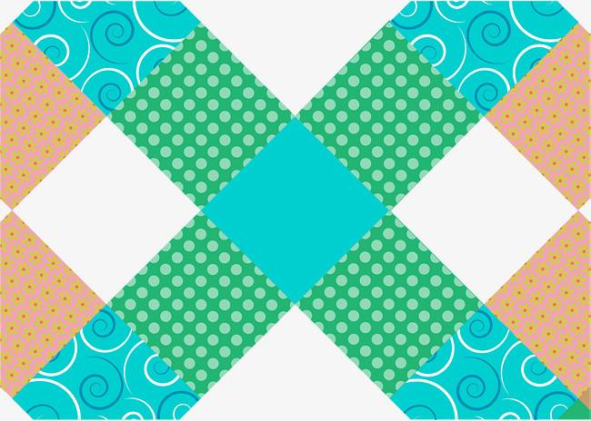 矢量手绘蓝色几何