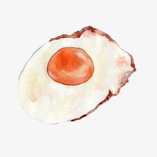 煎鸡蛋手绘画素材图片