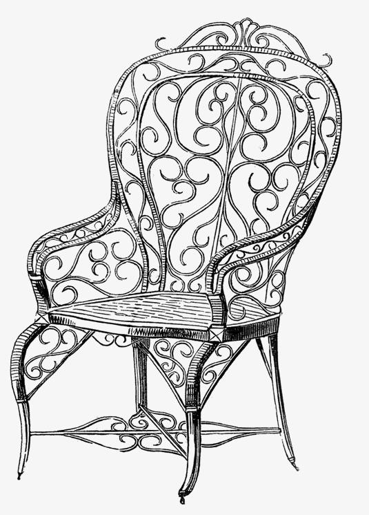 创意学生椅子手绘