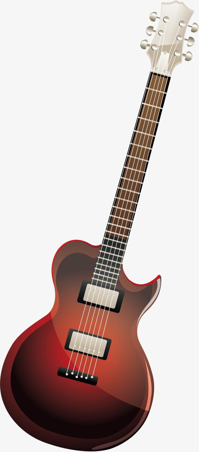 手绘吉他矢量图