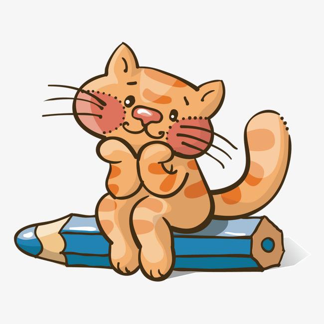 矢量卡通可爱小猫素材