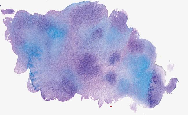 紫色创意水粉水彩画