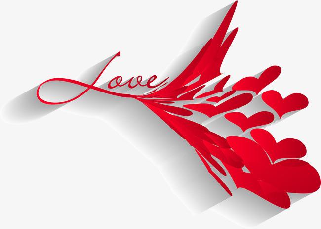 矢量手绘love艺术字png素材-90设计
