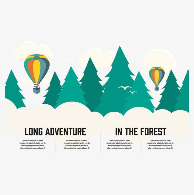 森林风景矢量素材【高清装饰元素png素材】-90设计