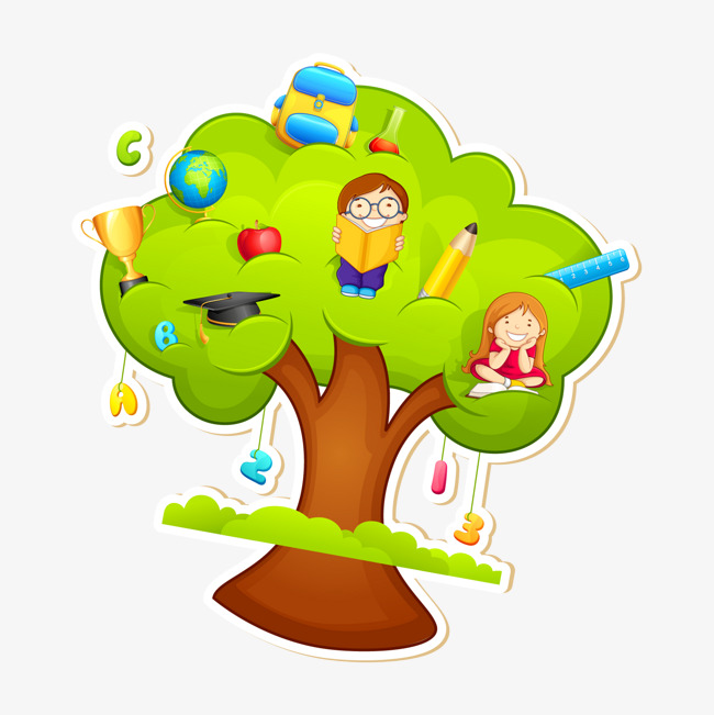 卡通儿童画报树素材图片免费下载 高清装饰图案psd 千库网 图片编号