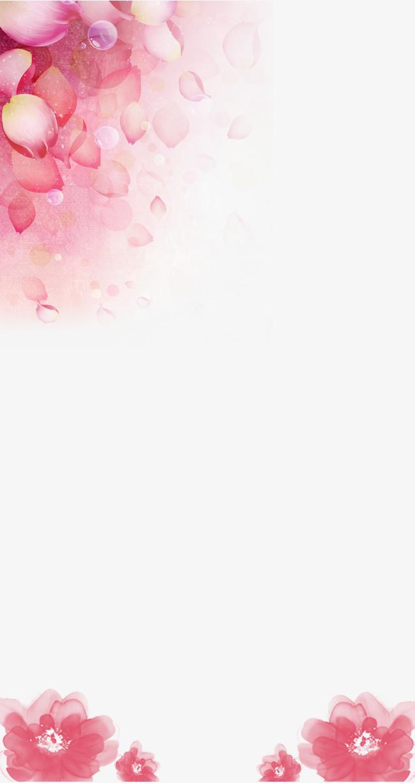 女生节花瓣背景png素材-90设计