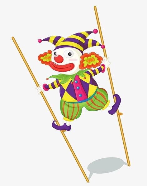 图片 > 【png】 卡通小丑走高跷  分类:手绘动漫 类目:其他 格式:png