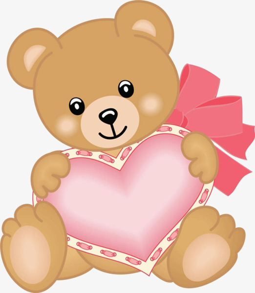 卡通小熊爱心图片
