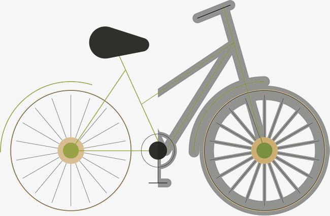 手绘自行车矢量图