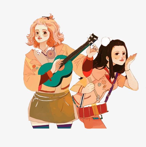 图片 > 【png】 卡通女生演奏  分类:手绘动漫 类目:其他 格式:png
