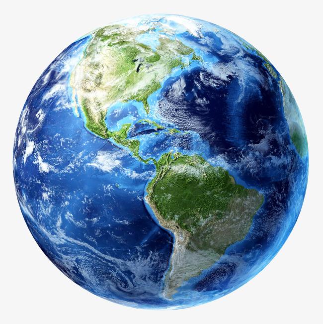 蓝色地球美洲俯视图素材图片免费下载 高清装饰图案png 千库网 图片