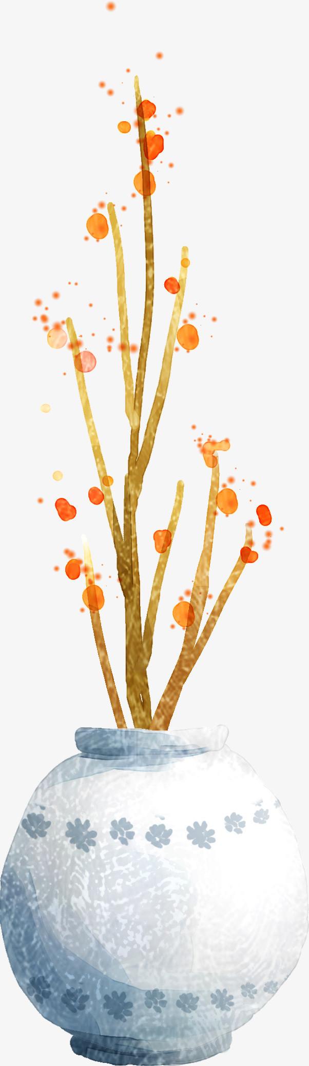 手绘唯美树枝创意