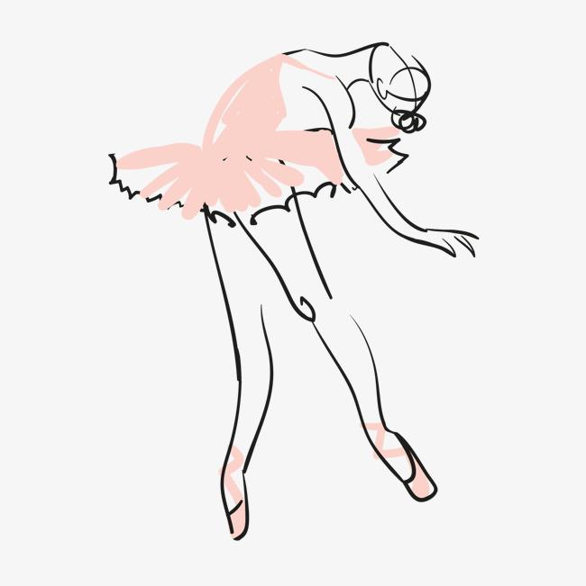 手绘芭蕾舞女孩