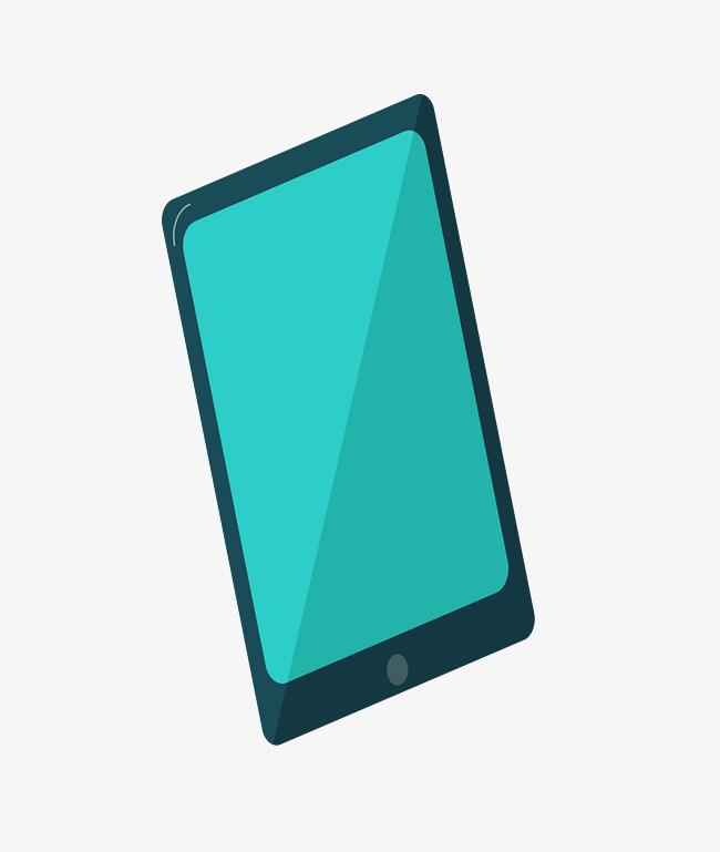 矢量绿色卡通平板电脑图片