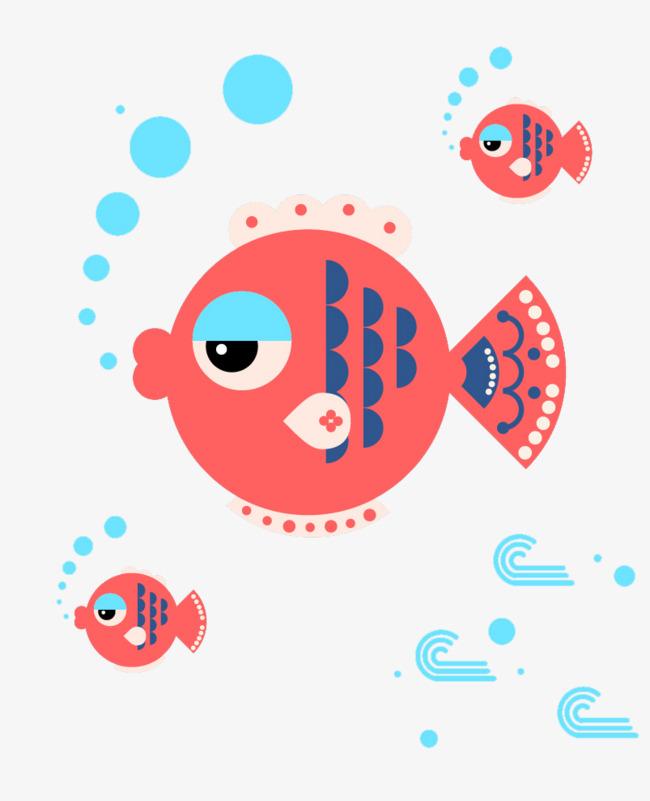 吐泡泡的鱼素材图片免费下载_高清png图片