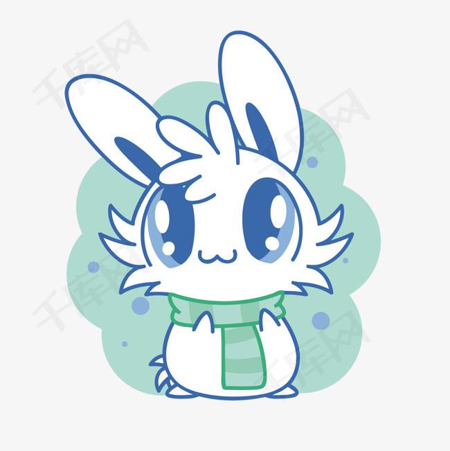 矢量可爱的兔子