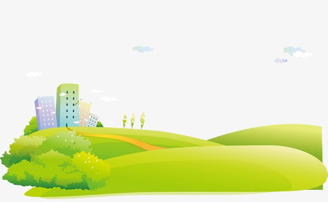 卡通城市郊外风景背景矢量图图片