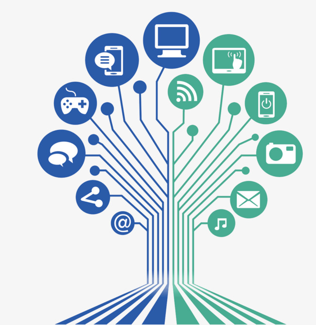 电路线条 科技图标科技树 无线 互联网             此素材是90设计