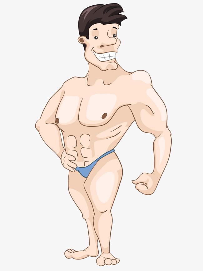 卡通健身男图片
