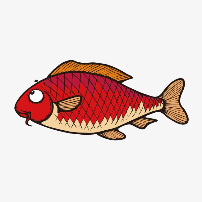 手绘鱼素材图片