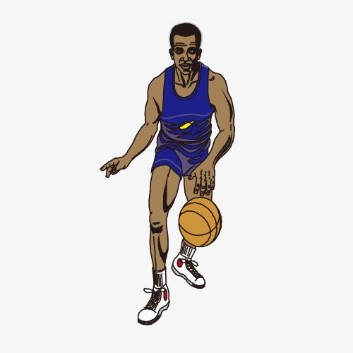 手绘打篮球