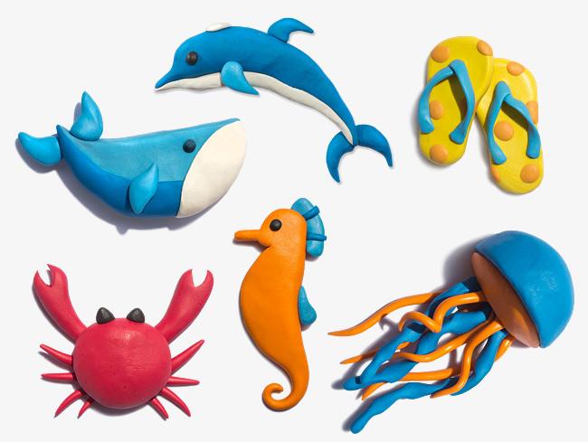 橡皮泥海洋生物素材