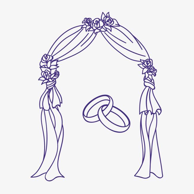 手绘婚礼素材