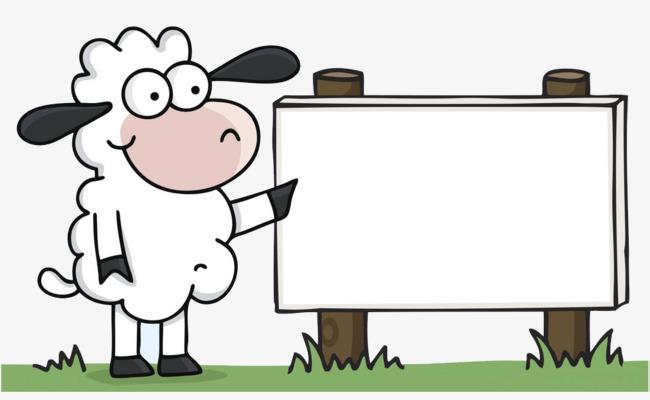 小羊广告牌【高清边框纹理png素材】-90设计