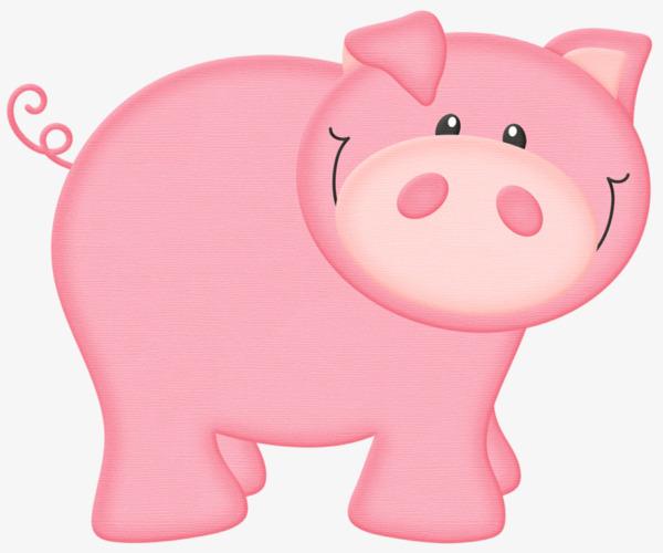 卡通粉色小猪png素材