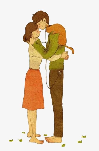 图片 > 【png】 卡通拥抱情侣  分类:手绘动漫 类目:其他 格式:png