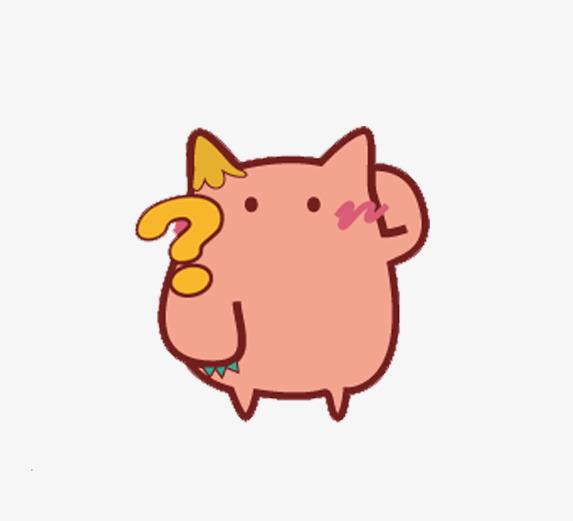粉红小猫疑问表情图片