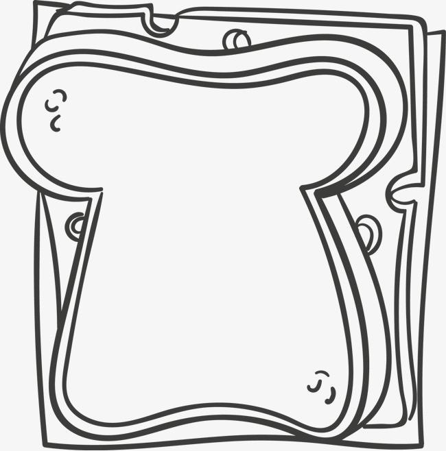 手绘三明治矢量图