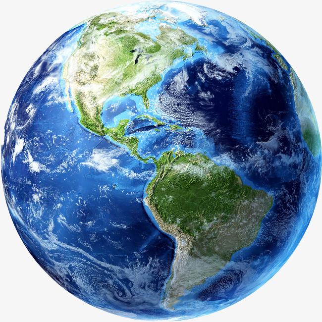 手绘水彩地球