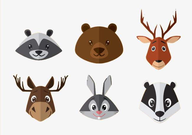 图片 > 【png】 可爱卡通动物头像  分类:手绘动漫 类目:其他 格式