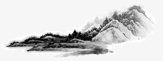 中国风山水水墨画