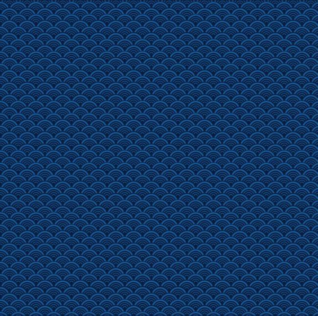 蓝色清新中国风海浪边框纹理