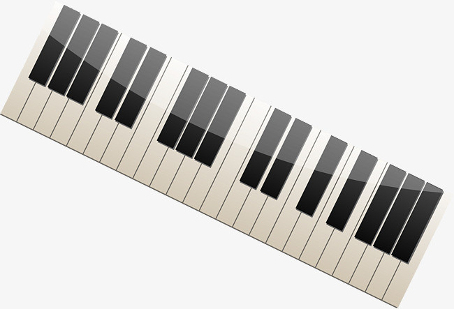 钢琴琴键立体矢量图