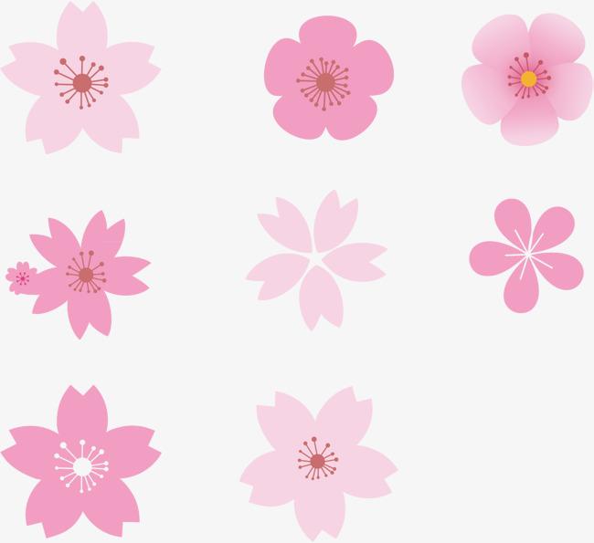 樱花花瓣元素素材图片免费下载 高清装饰图案psd 千库网 图片编号7287117