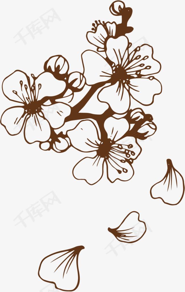 手绘樱花素材图片免费下载 高清卡通手绘psd 千库网 图片编号7287089