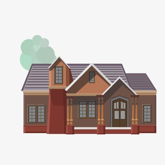 立体房屋png素材-90设计