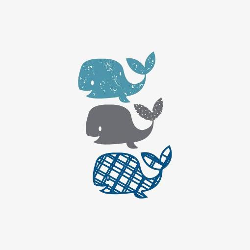 卡通小鲸鱼