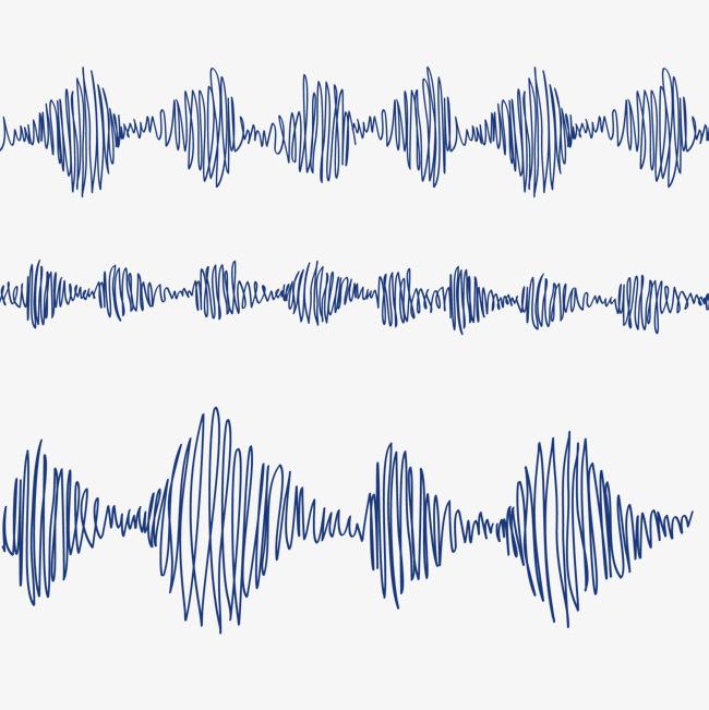 矢量手绘波浪线