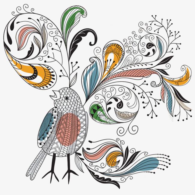 彩色创意插画