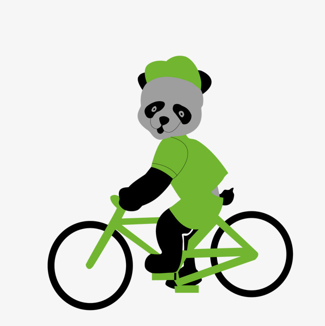 图片 > 【png】 骑自行车的熊猫  分类:手绘动漫 类目:其他 格式:png