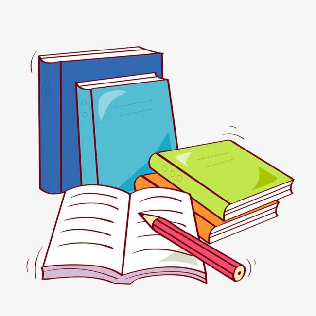 彩色手绘书本