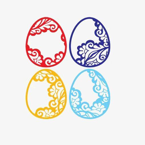 彩色椭圆形花纹图片